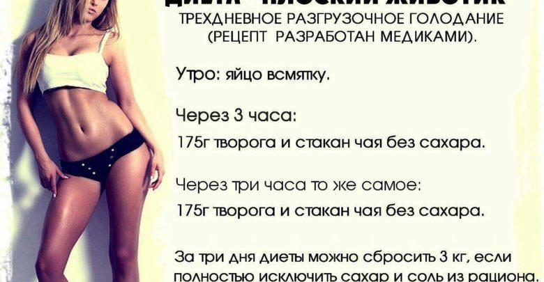 Диеты для похудения живота боков рецепты
